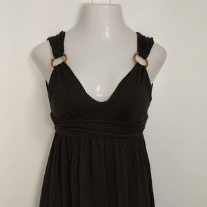 Victoria's Secret Dresses - VICTORIA'S SECRET Black Plunge Dress Small